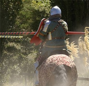 Callum Forbes while jousting